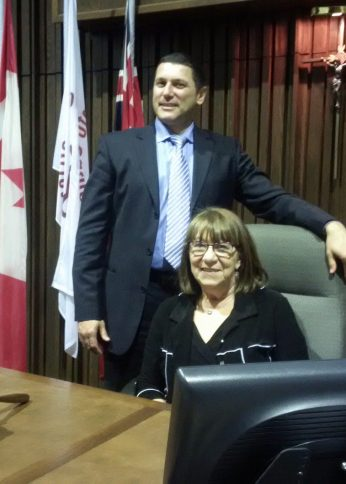 Angela Kennedy, Ward 11 trustee and TCDSB chair with Frank D'Amico, Ward 6 trustee and TCDSB vice-chair.