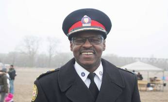 Mark Saunders, Toronto's police chief smiling