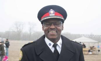 Mark Saunders, Toronto's police chief smiling