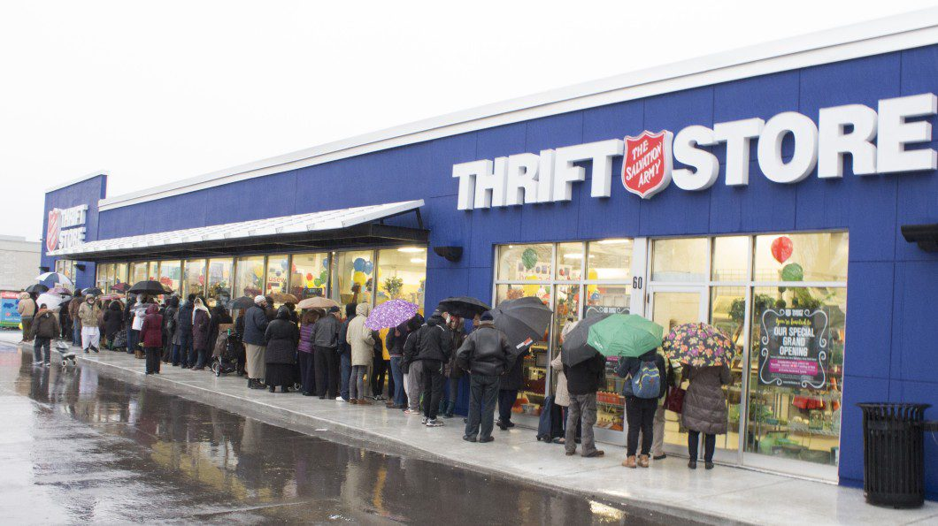 Estimated 300 shoppers attended Salvation Army grand opening