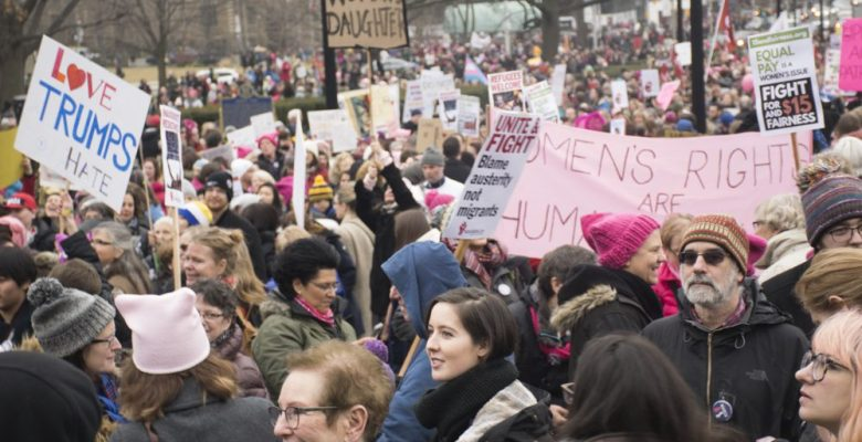 Toronto holds march in support of the Women's March on Washington on Jan. 21.