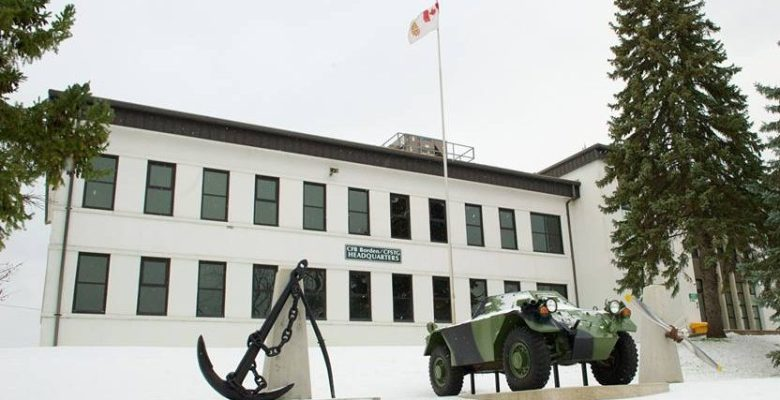 Canadian Forces Base Borden where reservist trained.