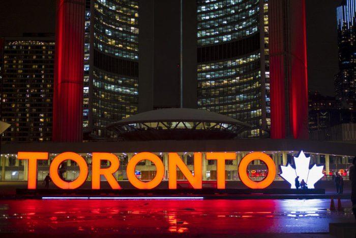 Toronto city hall sign