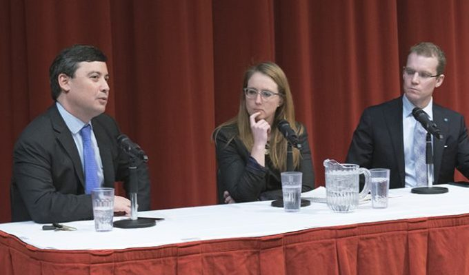Conservative Party candidate Michael Chong spoke at U of T about elector