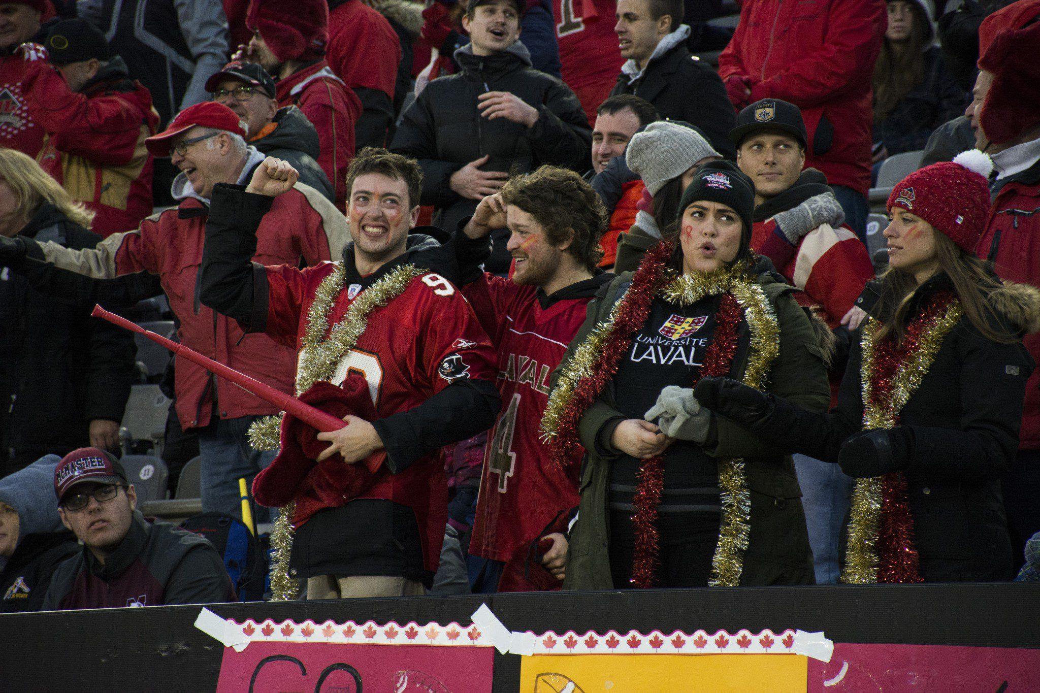 Laval fans celebrate
