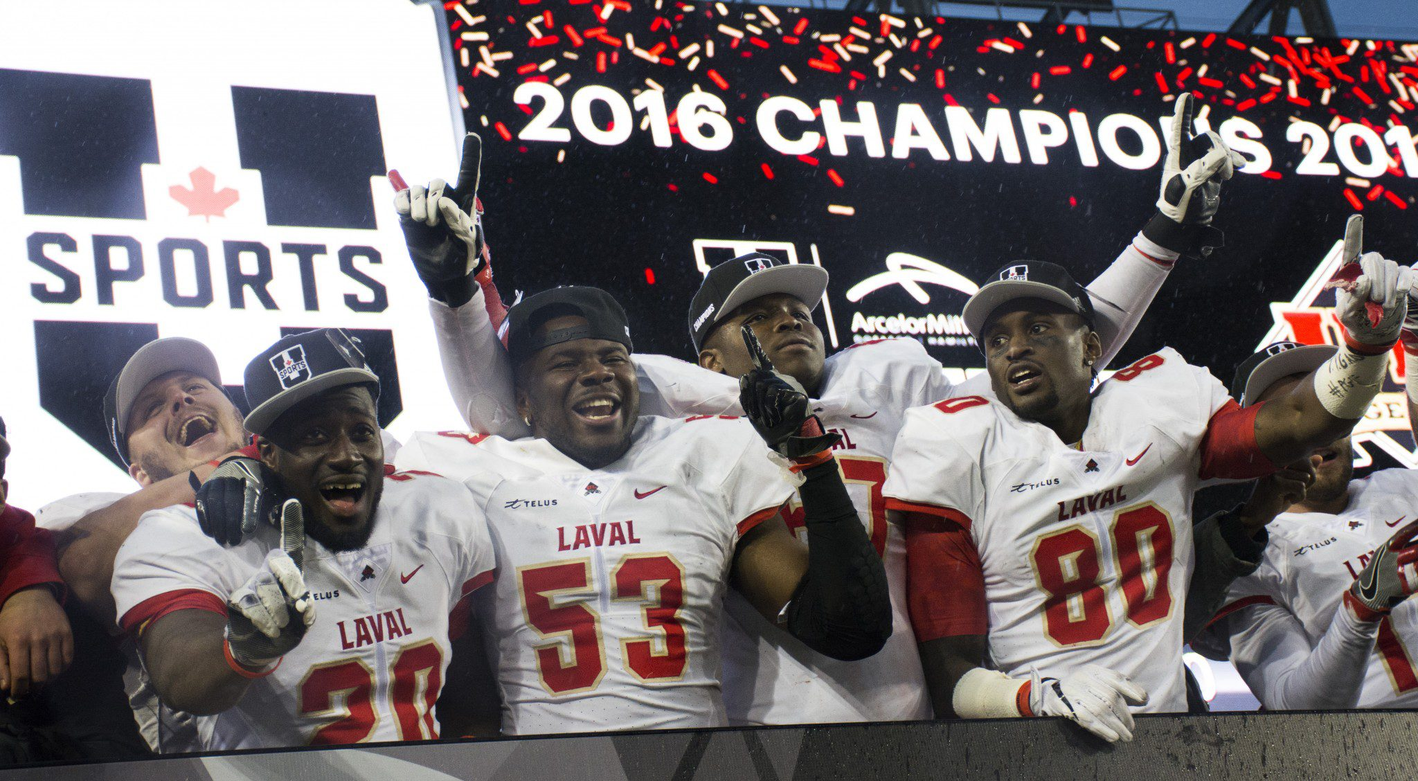 Laval players celebrate