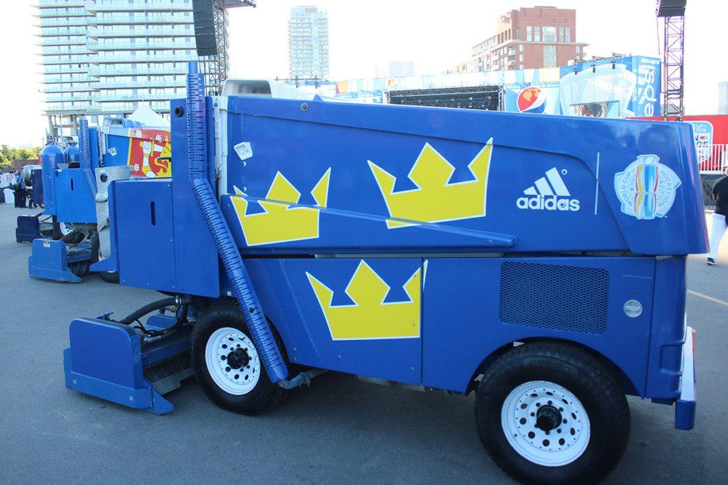 Team Sweden's personalized Zamboni
