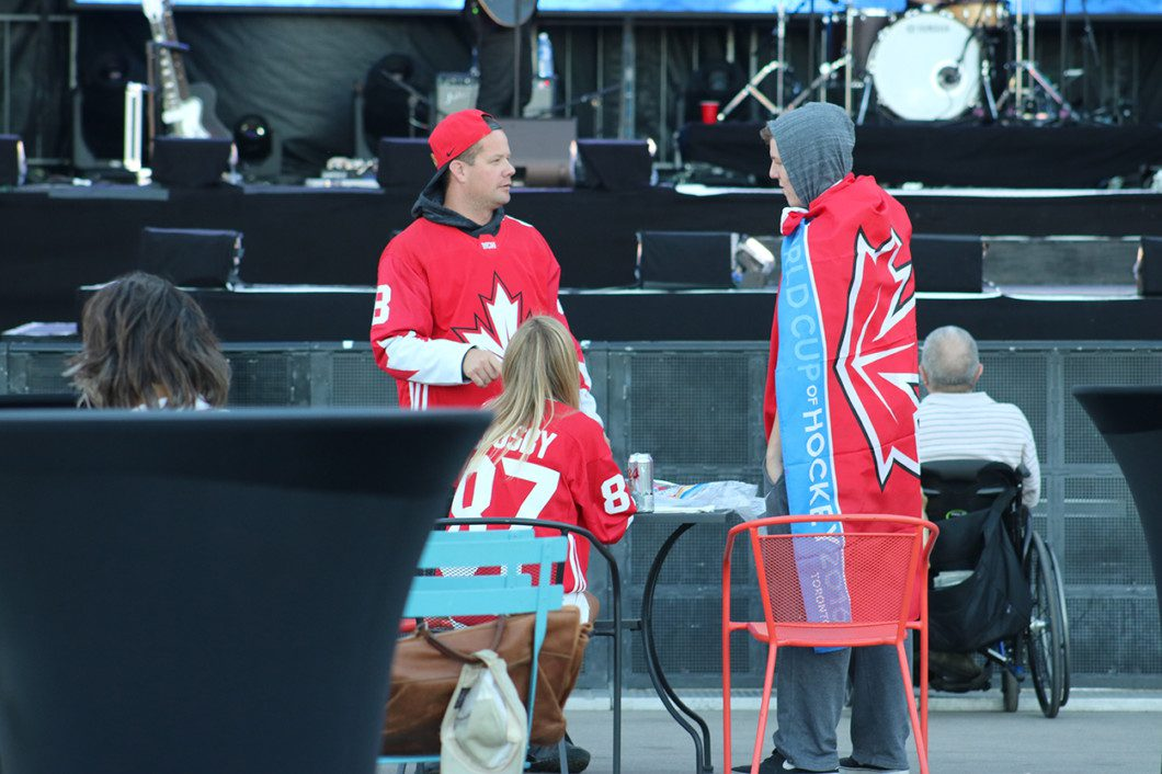 trio of Canadian fans