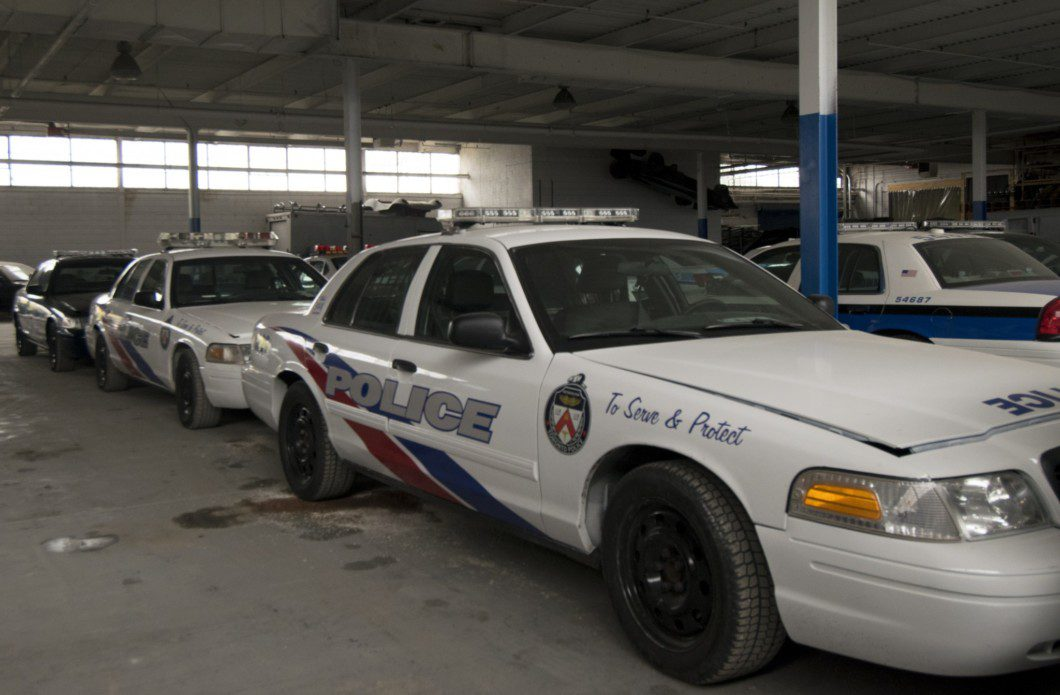 prop police cars in storage