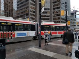 Temporary stop at King Street and York Street