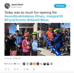 Woodbine bike lanes opening ceremony