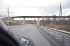 driving down the extension