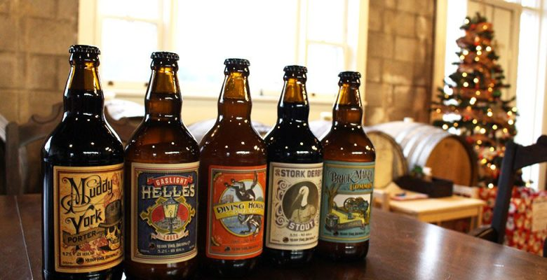 bottles of beer made by Muddy York Brewery