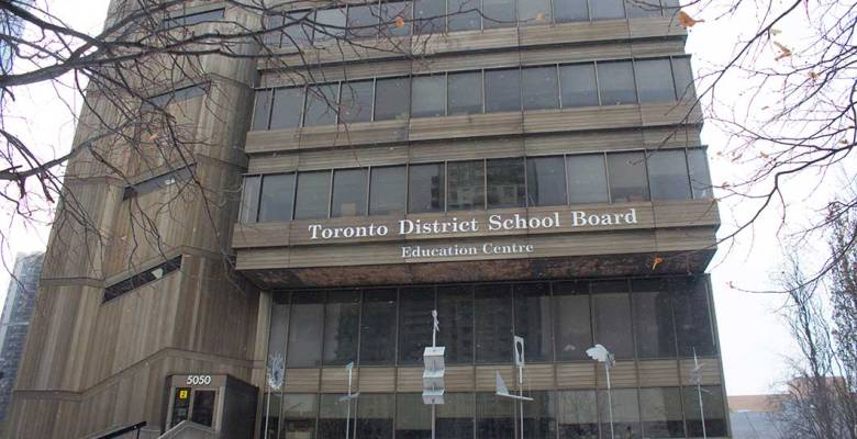 Shot of the Toronto District School Board building located at 5050 Yonge St, Toronto.