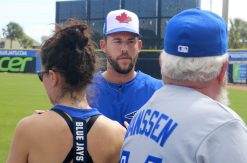 Ryan Tepera met with fans before the game. (Ashley Taylor photo)