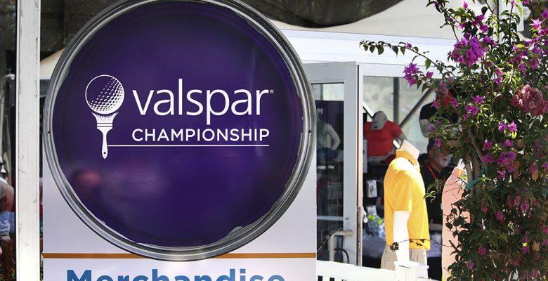 The merchandise sign at the Valspar Championship