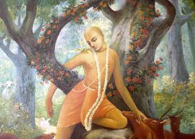 A painting of a monk symbolizing spirituality and innocence.