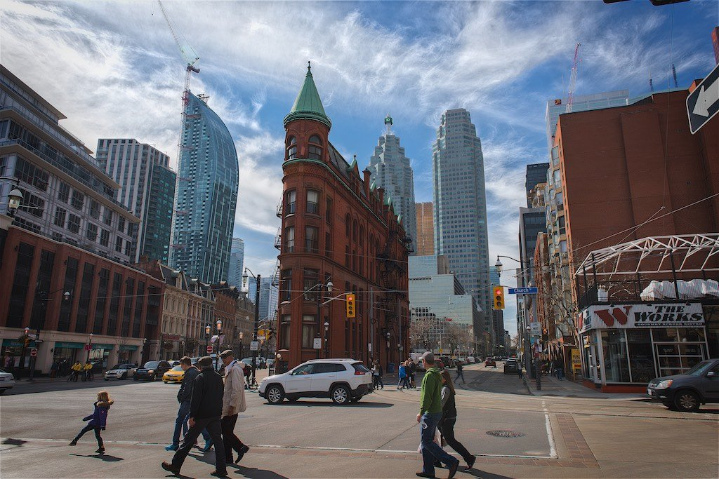 Toronto Flatiron Building (Photo by Bruce Christie 2016)