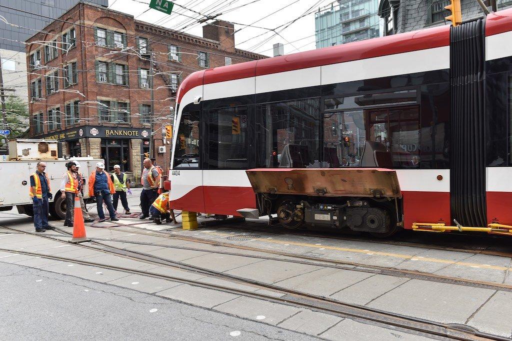 Bombardier Streetcar Derails