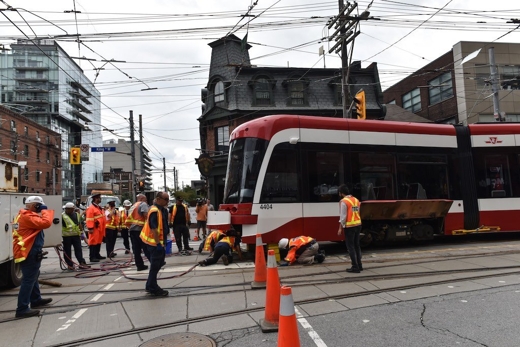 TTC Streetcar Derailed on King