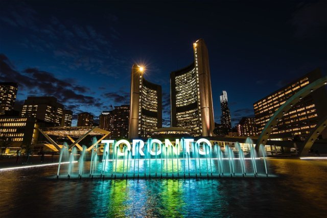 Toronto City Hall At Night