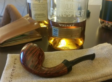 Bourbon and a new pipe.