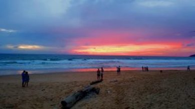 Amazing Sunset in Phuket Thailand Karon Beach