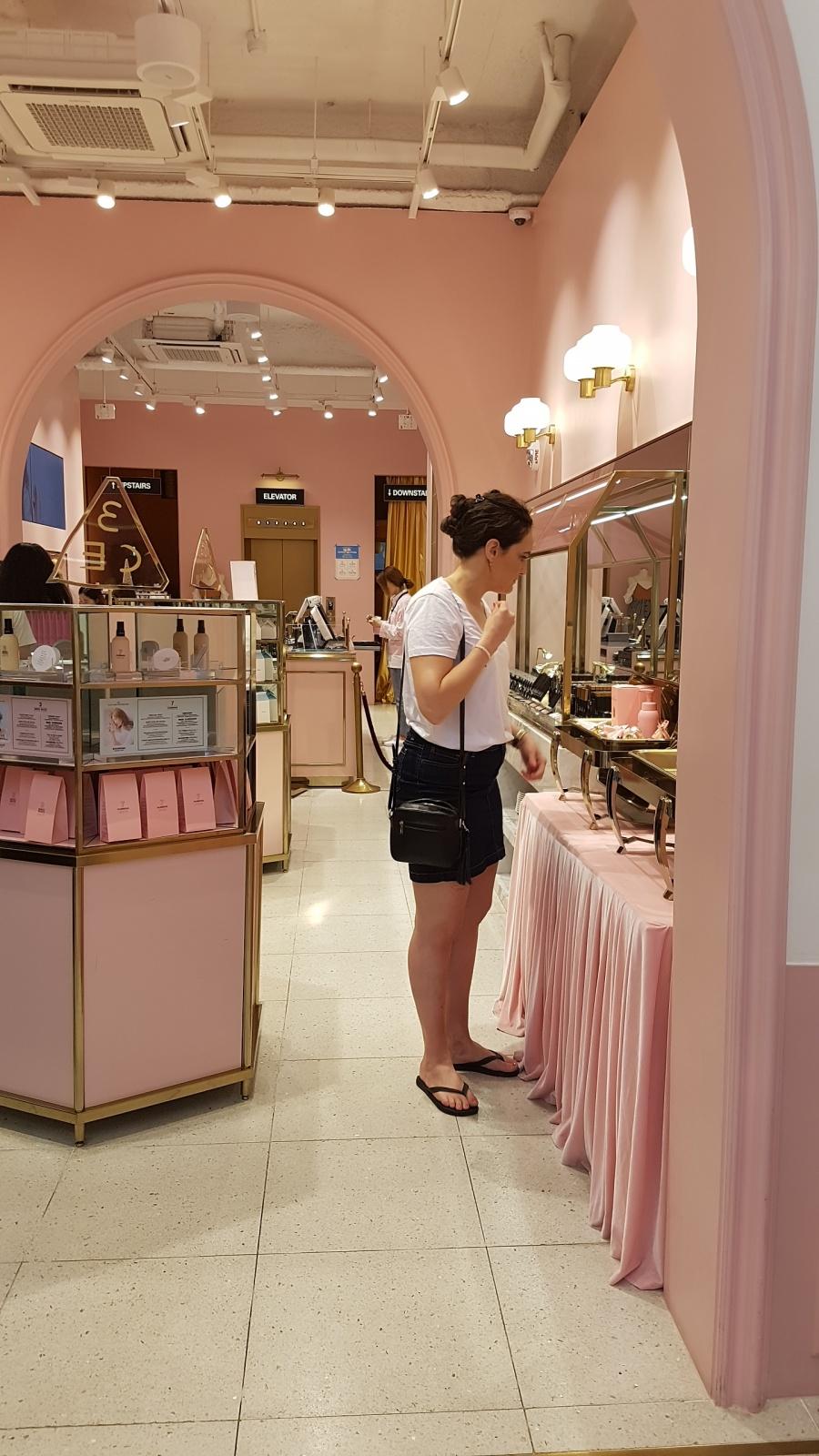 stylenanda pink hotel pink pool cafe myeongdong seoul korea best