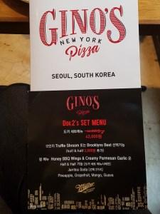 Delivery Korea Gino's Pizza Gangnam Apgujeong Seoul Food Toronto Seoulcialite Menu Review