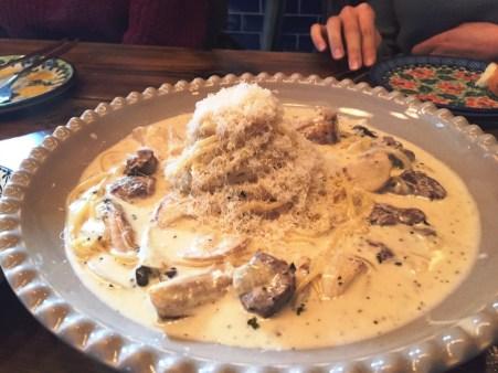 Blu Cucina Italian Restaurant Mangwon Seoul Korea Toronto Seoulcialite Date Spot Seoul Hongdae White Cream Sauce Pasta with Mushrooms and Short Rib