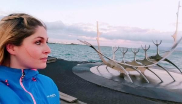 Iceland, woman, sea, glacier, Reykjavik, Travel, Blogger, Sun Voyager, Sunset