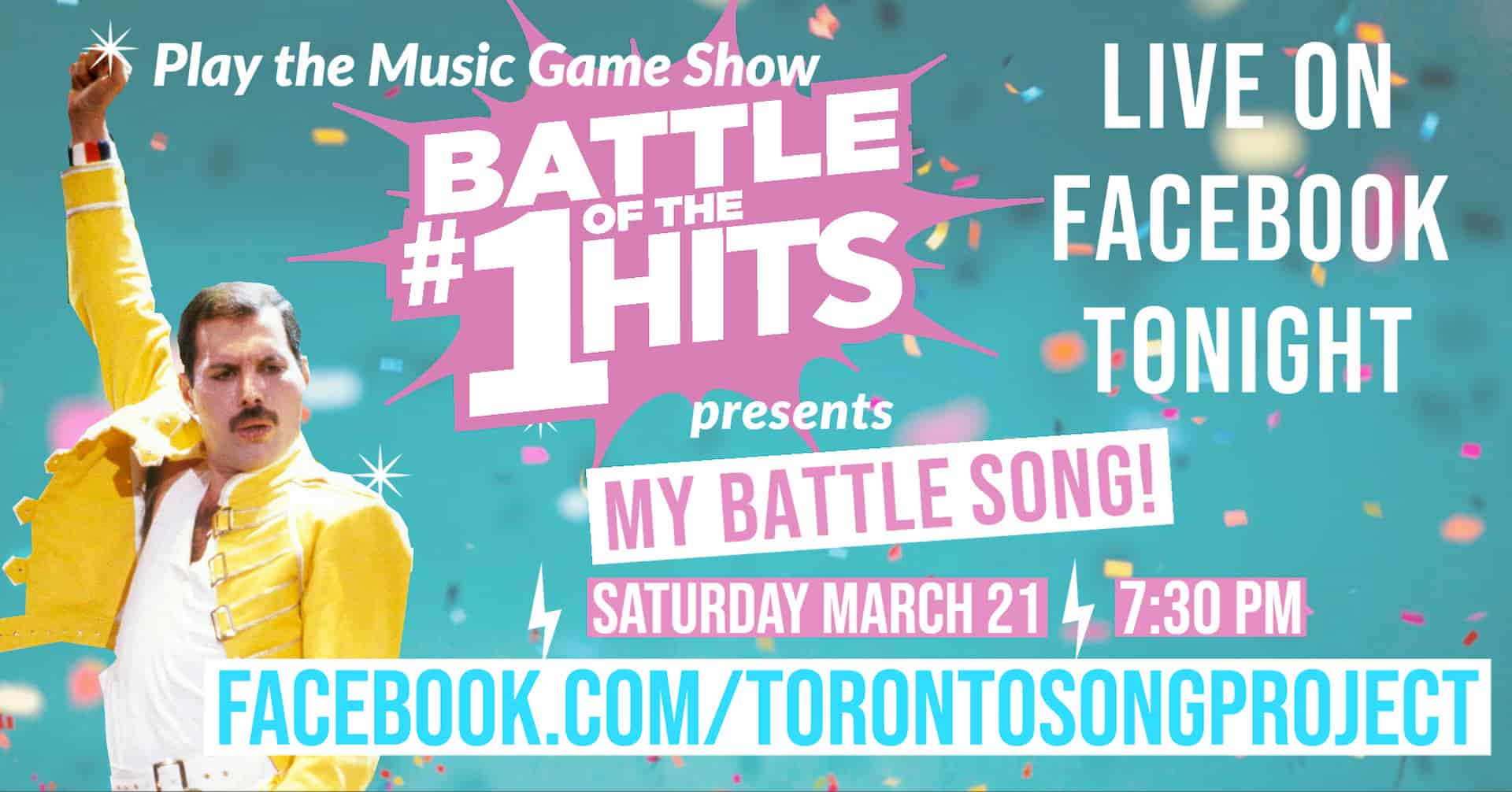 Banner ad for Battle of the #1 Hits on Facebook Live