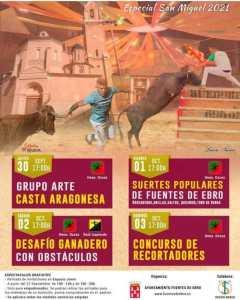 TOROS FUENTES DE EBRO 30 SEPT 1 2 3 OCT 2021