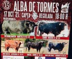 TOROS ALBA DE TORMES 17 OCTUBRE 2021