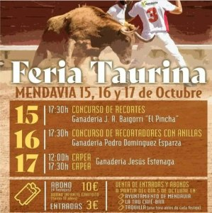 TOROS MENDAVIA 15 A 17 OCTUBRE 2021