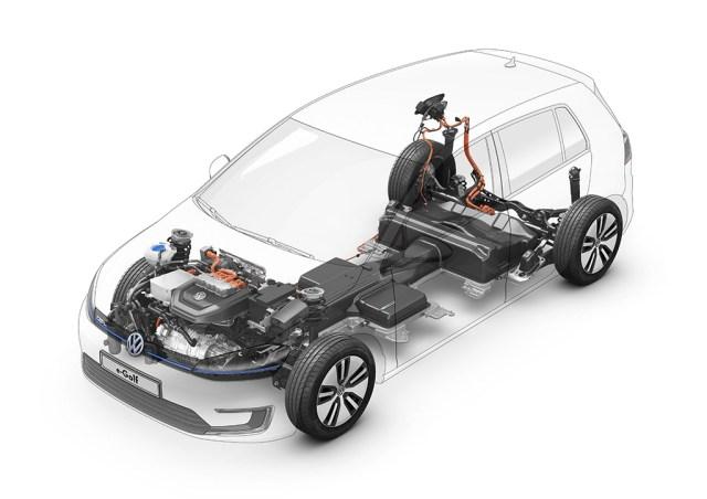 2019 Volkswagen e-Golf batteries, motor and inverter