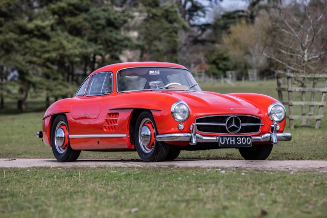 A Mercedes 300SL Gullwing