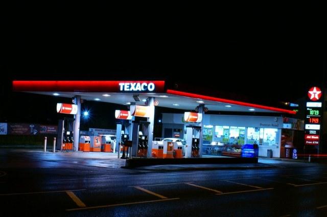 A UK petrol station
