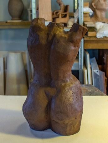 skulptur,torso,leire