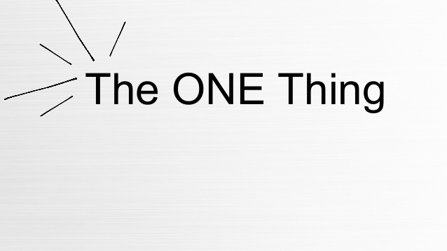 The One Thing (For Baseball and Softball Hitters)