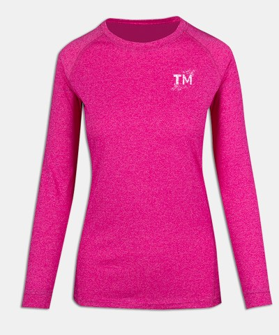 Long Sleeve - W - Pink Heather - Front