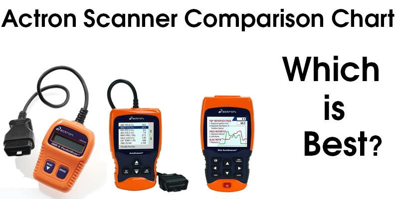 Actron Scanner Comparison Chart