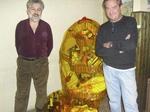 Don Antonio y Felipe con la cesta