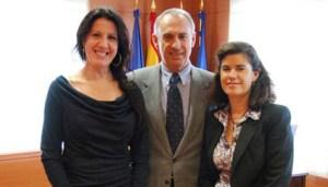 Maria Pagés, con el Alcalde y la Concejal de Cultura de Torrelodones