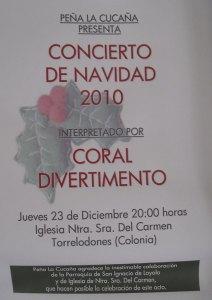 Peña La Cucaña presenta el Concierto de Navidad 2010