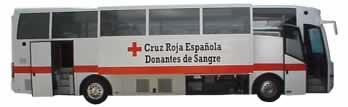 Unidad Móvil de Donación de Sangre de la Cruz Roja