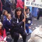 Esperando, junto a la gente de El Escorial