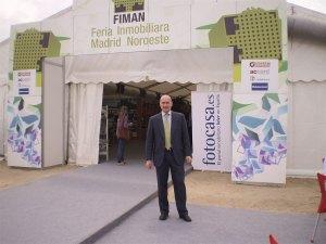 Miguel Ángel Galán, en la I Feria Inmobiliaria de Madrid Noroeste (FIMAN)