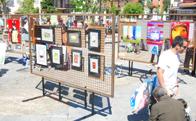 mercado de arte en la Pza. de la Constitución de Torrelodones