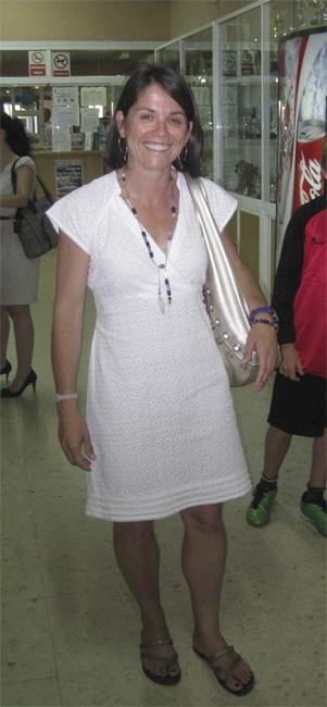 La Alcaldesa de Torrelodones, al salir de la Gala del Deporte